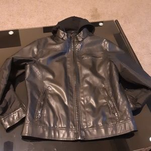 Young Men's Black Leather Jacket